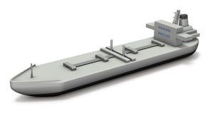 Miniature model of the tanker. Stock Image
