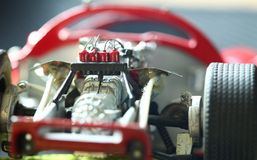 Miniature model toy car scene. stock photo
