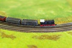 Miniature model of train. Stock Image
