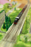 Miniature model of train. Stock Images