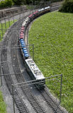Miniature model (train) in mini park Royalty Free Stock Photos