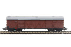 Miniature model of a train wagon Royalty Free Stock Photos