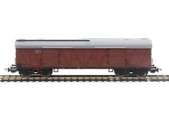 Miniature model of a train wagon Royalty Free Stock Photos