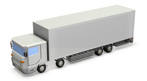 Miniature model of the truck. Royalty Free Stock Photography