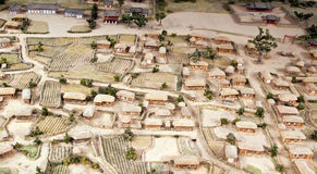 Miniature model of village  Royalty Free Stock Photo