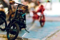 Miniature models. Mini toys from the market of delhi royalty free stock photos