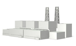 Miniature models of power plant Stock Photography