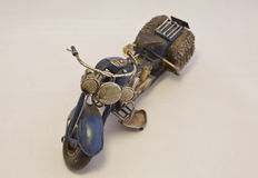 Miniature Motorcycle Front View Royalty Free Stock Photos
