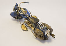 Miniature Motorcycle Top View Royalty Free Stock Image