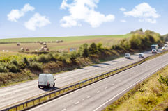 Miniature Motorway Royalty Free Stock Photography