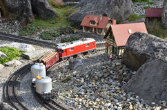 Miniature mountain railway Royalty Free Stock Photo