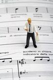 Miniature of a music teacher Royalty Free Stock Images