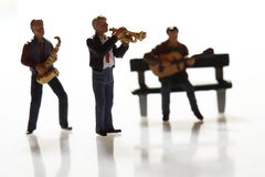 Miniature musicians B Royalty Free Stock Photo