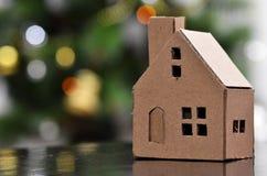 Miniature paper house Stock Photo