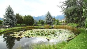 Miniature park at Bern Switzerland stock video