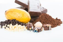 Miniature pastry chefs and cocoa Royalty Free Stock Photo