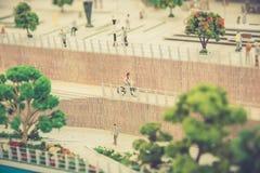 Miniature people stock image