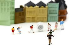 Miniature people : children,students with school,Back to school. Concept Royalty Free Stock Image