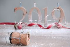 2019 new years eve party concept stock image