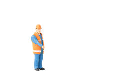 Miniature people engineer worker construction concept Stock Photo