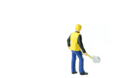 Miniature people engineer worker construction concept Royalty Free Stock Photography