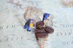 Miniature people - figurines stock photo