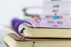 Miniature people: Group childrens at school. Image use for education concept.  Stock Photo