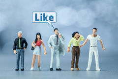 Miniature people -  People and social media Royalty Free Stock Photography