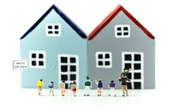Miniature people : student and children with house,Education con. Cept royalty free stock photos