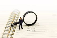 Free Miniature People, Supervisors Look For Employees For Job Placement, Using As Background Choice Of The Best Suited Employee, Stock Image - 107273241