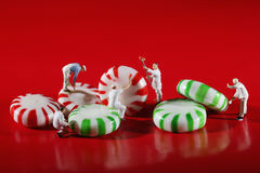 Miniature People Who Paint Colors on Our Candy Stock Photo