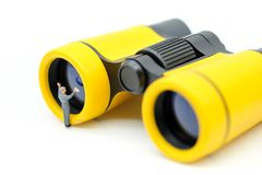 Miniature people : worker clean Binoculars. Miniature people worker clean Binoculars Stock Images