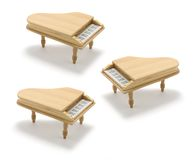 Miniature Pianos. On White Background Royalty Free Stock Images