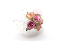 Miniature pink roses bouquet. Isolated on white background Stock Photo