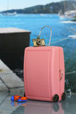 Miniature of pink suitcase Royalty Free Stock Image
