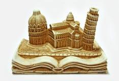 Miniature Pisa. A miniature sculpture of Pisa Tower, Italy stock photos