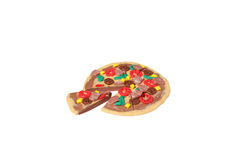 Miniature pizza model from japanese clay Royalty Free Stock Photo