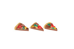 Miniature pizza model from japanese clay Royalty Free Stock Images