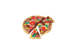 Miniature pizza model from japanese clay Stock Images