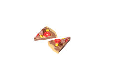 Miniature pizza model from japanese clay Stock Photography
