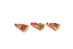 Miniature pizza model from japanese clay Stock Photos