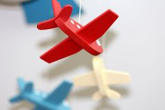 Miniature of a Plane Royalty Free Stock Photography