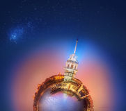 Miniature Planet with buildings of Istanbul Stock Photography