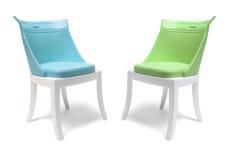 Miniature Plastic Chairs Stock Photos