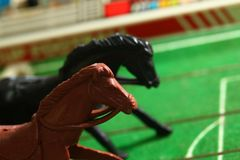 Miniature plastic horse model. Miniature plastic horse model represent sport business concept Royalty Free Stock Photo