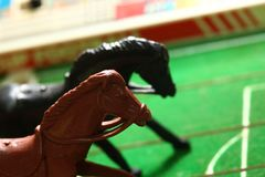 Miniature plastic horse model. Miniature plastic horse model represent sport business concept Royalty Free Stock Photography