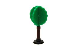 Miniature Plastic Tree on White Background Stock Photo