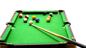 Miniature pool table Royalty Free Stock Photos