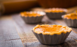 Miniature pumpkin pies Stock Photo