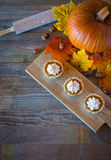 Miniature pumpkin pies Stock Image
